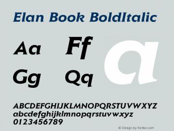 Elan Book
