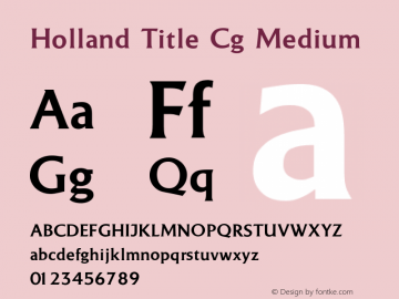 Holland Title Cg