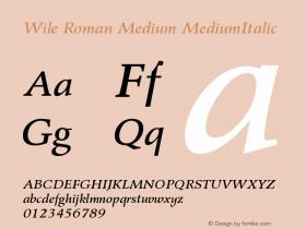 Wile Roman Medium