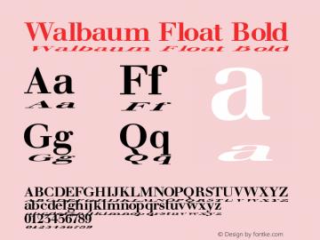 Walbaum Float