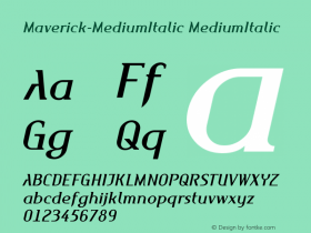 Maverick-MediumItalic