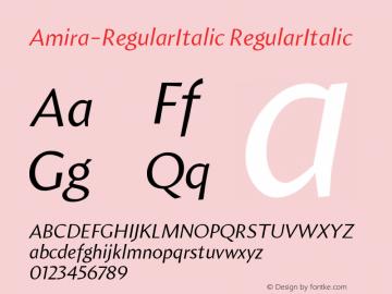 Amira-RegularItalic