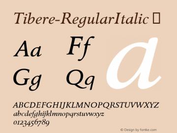 Tibere-RegularItalic