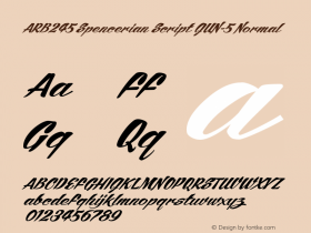 ARB245 Spencerian Script JUN-5