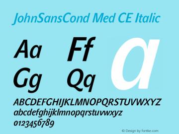 JohnSansCond Med CE