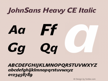 JohnSans Heavy CE