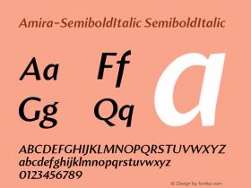 Amira-SemiboldItalic