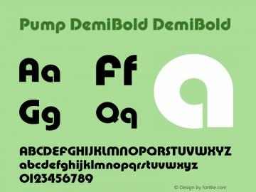 Pump DemiBold