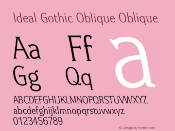 Ideal Gothic Oblique