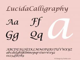 LucidaCalligraphy