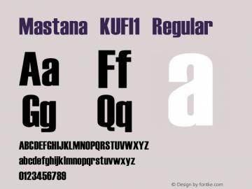 Mastana KUFI1