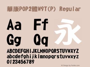华康POP2体W9T(P)