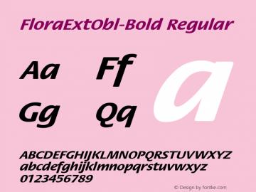 FloraExtObl-Bold