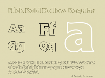 Flick Bold Hollow
