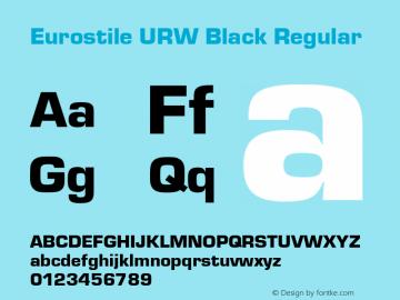Eurostile URW Black