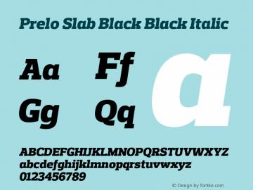 Prelo Slab Black