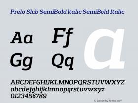 Prelo Slab SemiBold Italic