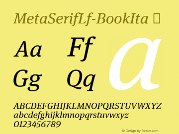 MetaSerifLf-BookIta