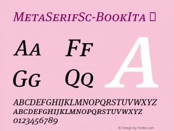 MetaSerifSc-BookIta
