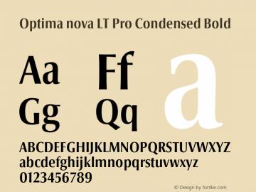 Optima nova LT Pro Condensed