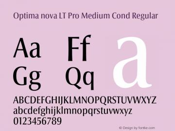 Optima nova LT Pro Medium Cond