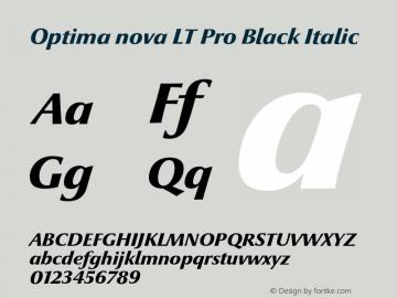 Optima nova LT Pro Black