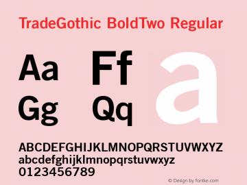 TradeGothic BoldTwo