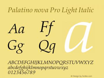Palatino nova Pro Light