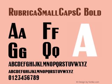 RubricaSmallCapsC