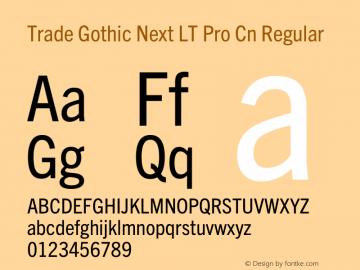 Trade Gothic Next LT Pro Cn