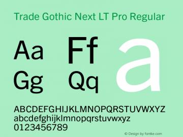 Trade Gothic Next LT Pro