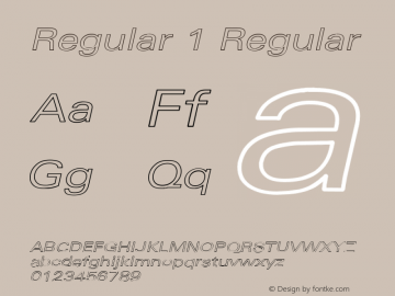 Regular 1