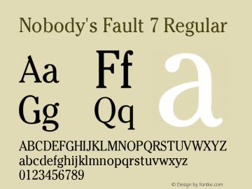 Nobody's Fault 7