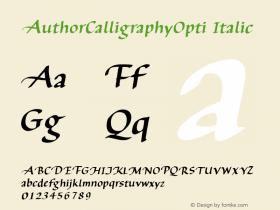 AuthorCalligraphyOpti