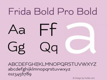 Frida Bold Pro
