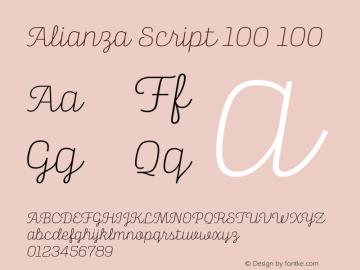 Alianza Script 100