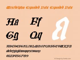 Westdelphia Expanded Italic