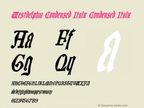 Westdelphia Condensed Italic