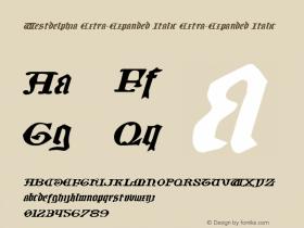 Westdelphia Extra-Expanded Italic