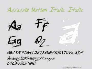 Assassin Nation Italic