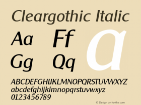 Cleargothic