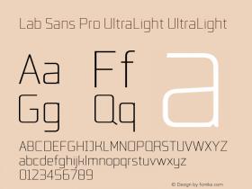 Lab Sans Pro UltraLight