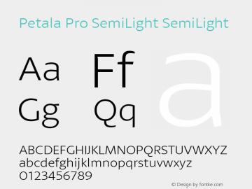 Petala Pro SemiLight