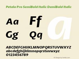 Petala Pro SemiBold Italic