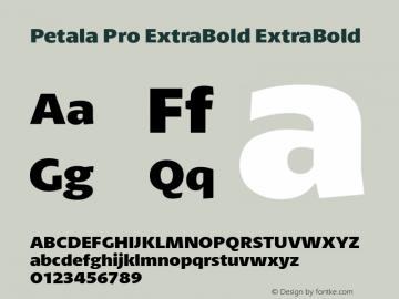 Petala Pro ExtraBold