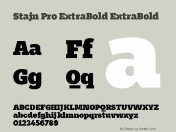 Stajn Pro ExtraBold