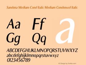 Sandena Medium Cond Italic