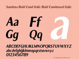 Sandena Bold Cond Italic