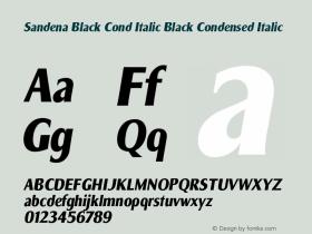 Sandena Black Cond Italic