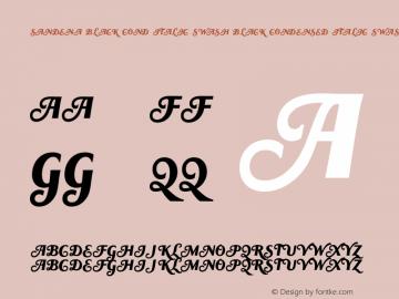 Sandena Black Cond Italic Swash